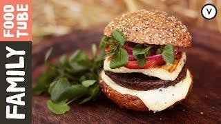Halloumi & Mushroom Burger   Shane Russell & Dj Bbq
