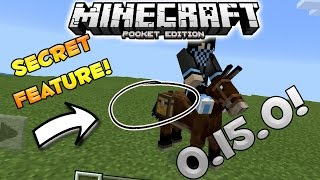 SECRET FEATURES TO MULES, DONKEYS & HORSES! - MCPE 0.15.0 News! - Minecraft Pocket Edition