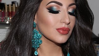 Summer Glam Makeup Look & Lip Strobe Huda Beauty | Melissa Samways