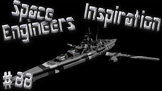 Space Engineers Inspiration - Episode 88: Desert Queen, Civilian Cruiser, & Battleship Bismarck
