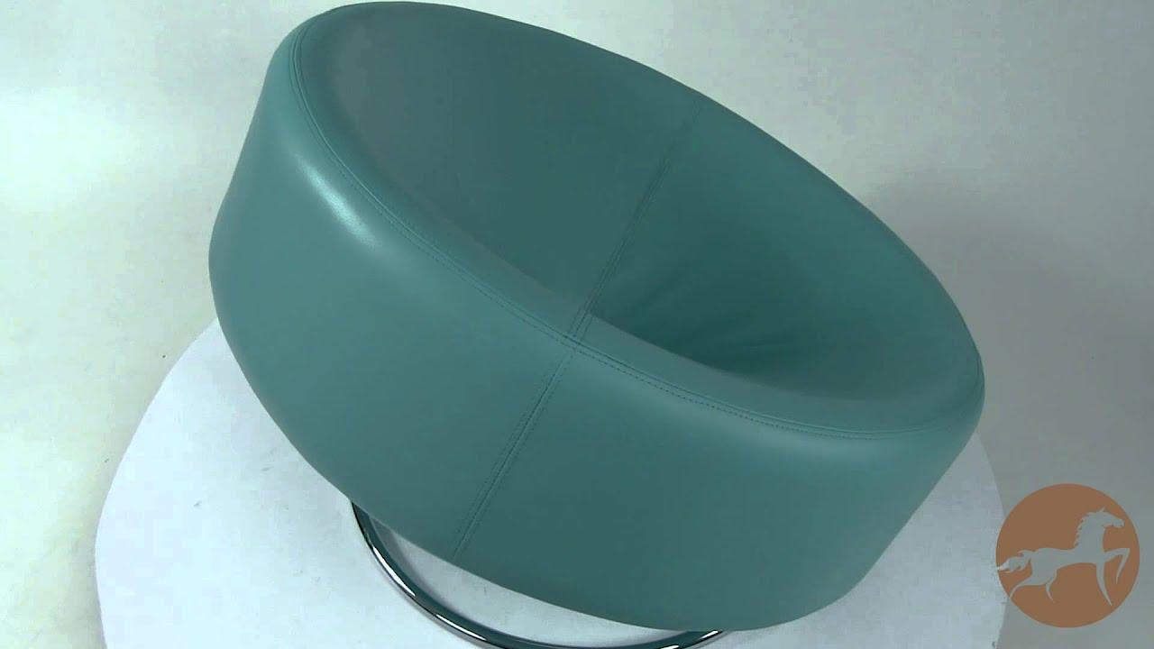 Modern Blue Donut Chair