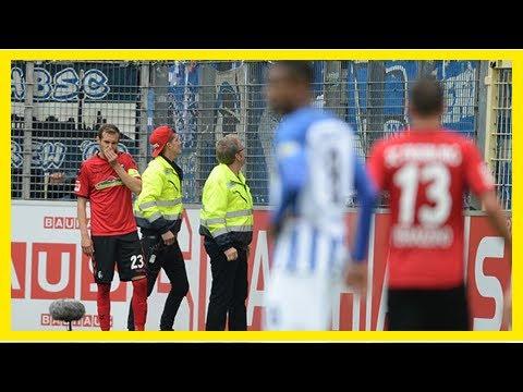 Fußball-bundesliga: fans von hertha bsc bespucken julian schuster vom sc freiburg