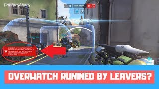 LEAVERS RUINING IT?! - Overwatch Ranked Season 11 Gameplay