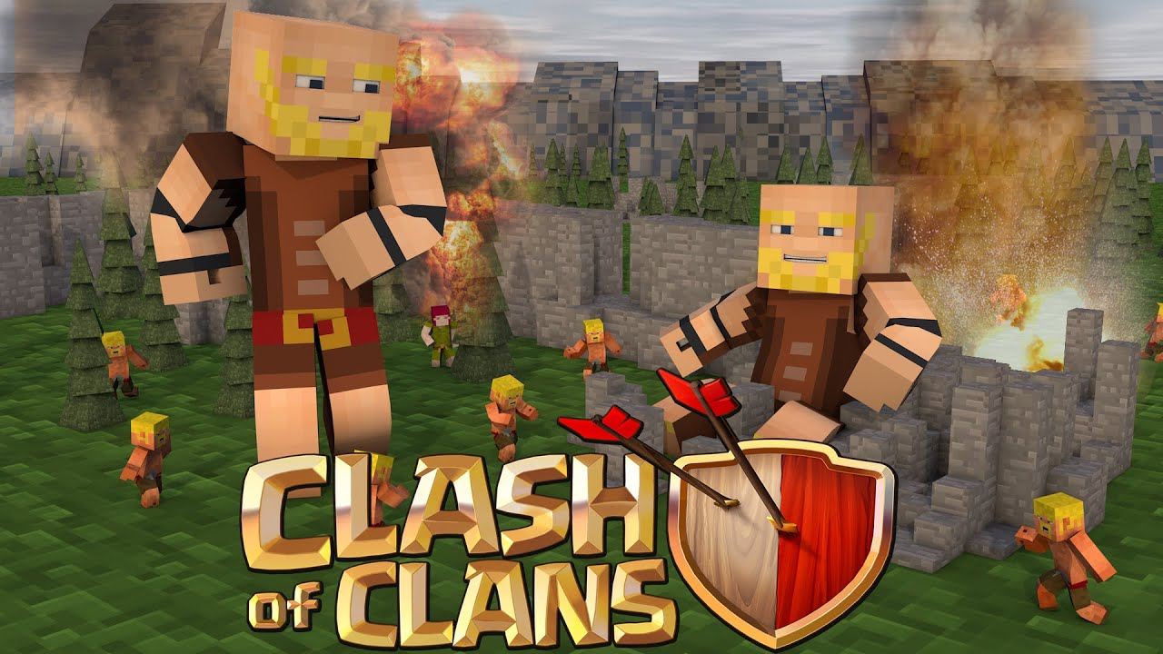 Minecraft Clash Of Clans Nations   Elixir Tower Raids Youtube