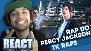 REACT Rap do Percy Jackson (Part 1) O Filho de Poseidon (TK RAPS) - XMR