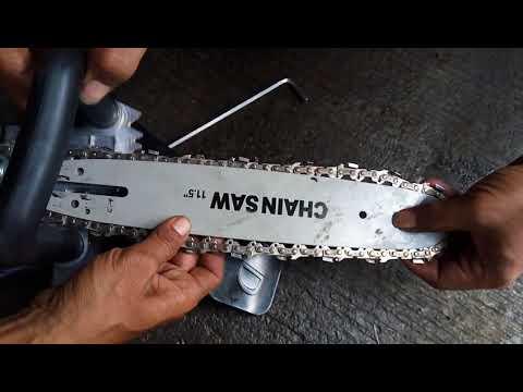 Modifikasi mesin grinda tangan buat motong pohon