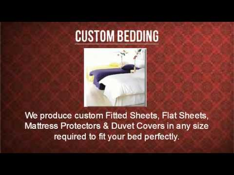 Custom Bedding Collection in Victoria Linen