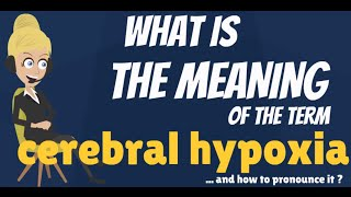 What is CEREBRAL HYPOXIA? What does CEREBRAL HYPOXIA mean? CEREBRAL HYPOXIA meaning & explanation