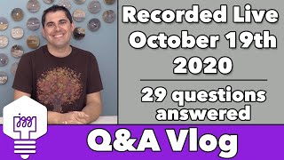 Q&A Vlog Oct '20 - 29 questions answered