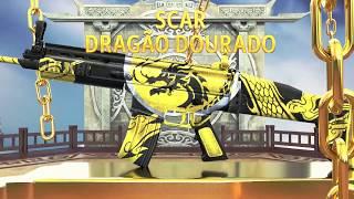 Arma Royale: SCAR DRAGÃO DOURADO | FREE FIRE