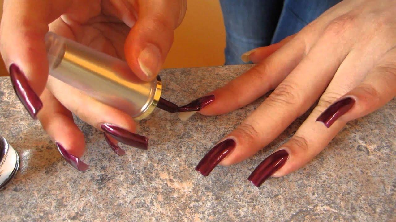 I paint with nail polish my long natural nails - dani 89 (video 45 ...