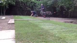 Time Lapse, landscaping, lawn construction, paving...
