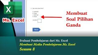 Membuat Soal Pilihan Ganda Media Pembelajaran Ms Excel Season 8 Youtube