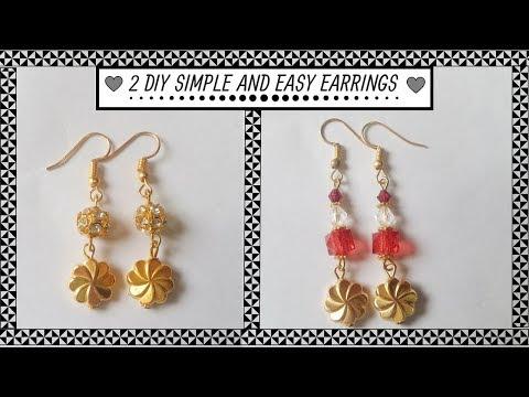 2 DIY simple earrings - part 2 | How to make earrings