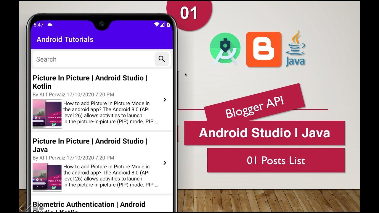 Blogger API | 01 Posts List | Android Studio | Java