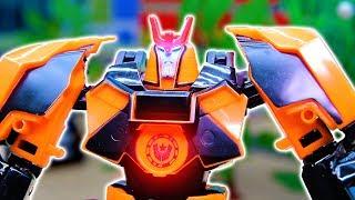Мультик про трансформера и Герои в масках. Ромео изобрёл нового робота. Мультик с игрушками