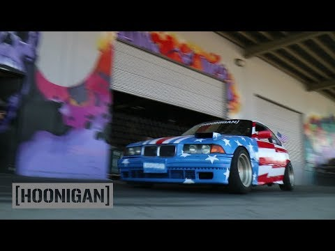 [HOONIGAN][HOONIGAN] DT 076: Hert Breaks $350 BMW E36 Drifting Down Dock