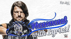 AJ STYLES WWE 2016 theme with lyrics (Phenomenal - CFO$) (Higher Quality)