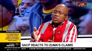 SACP's Alex Mashilo reacts to Zuma State Capture bombshell