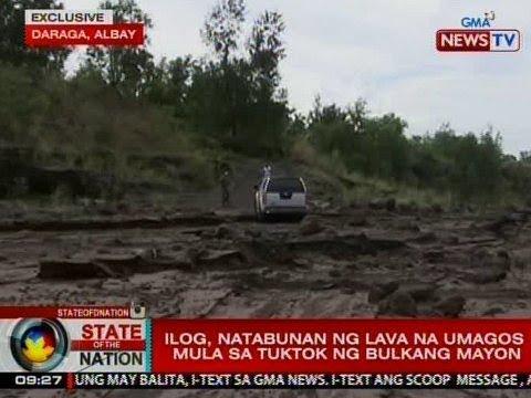 SONA: Ilog, natabunan ng lava na umagos mula sa tuktok ng Bulkang Mayon