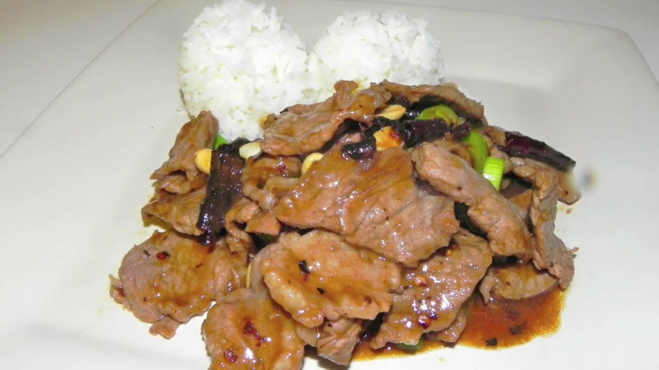 Kung pao beef recipe spicy chinese food youtube forumfinder Choice Image