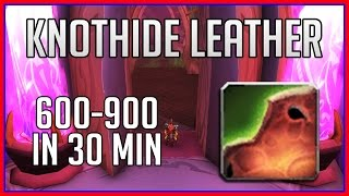 How to Farm Knothide Leather - 600-900/hour (WoW Gold Guide)