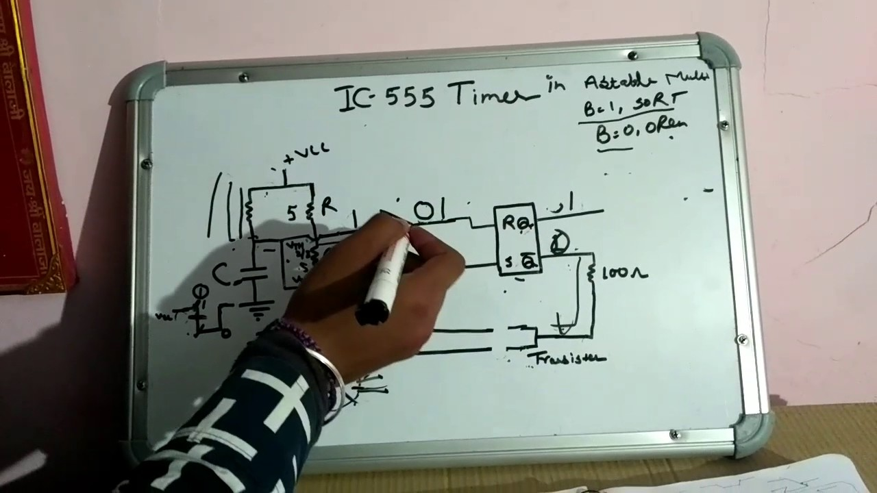 Ic 555 Timer In Astable Multivibrator Hindi Youtube Touch Switch Monostable With