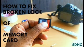 How to fix sd card lock switch (broken lock, card error, no memory card)