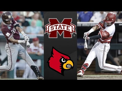 Mississippi State vs Louisville College World Series Elimination Game | College Baseball Highlights