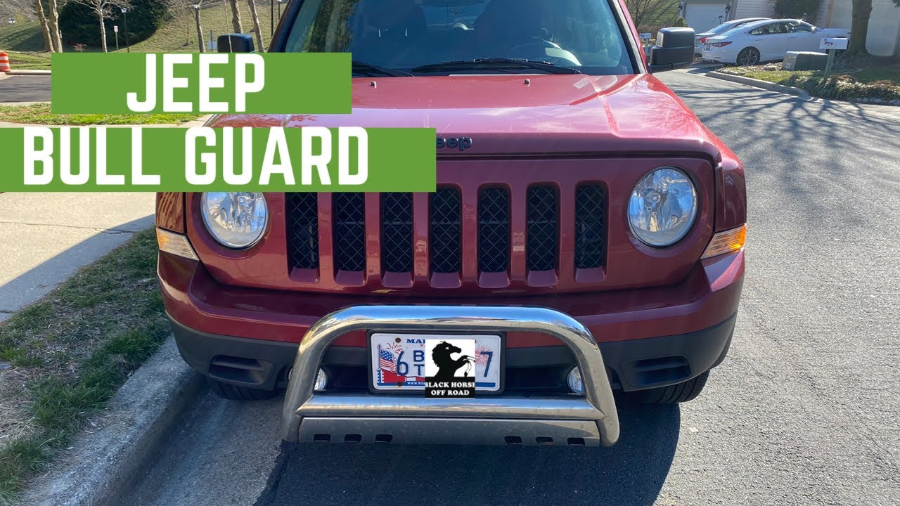 Jeep Patriot Bull Guard With Skid Plate Install Youtube