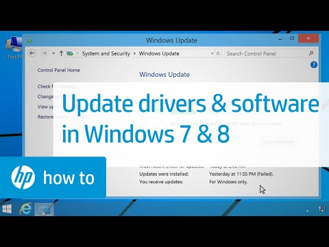 Updating HP Drivers and Software with Windows Update in Windows 8