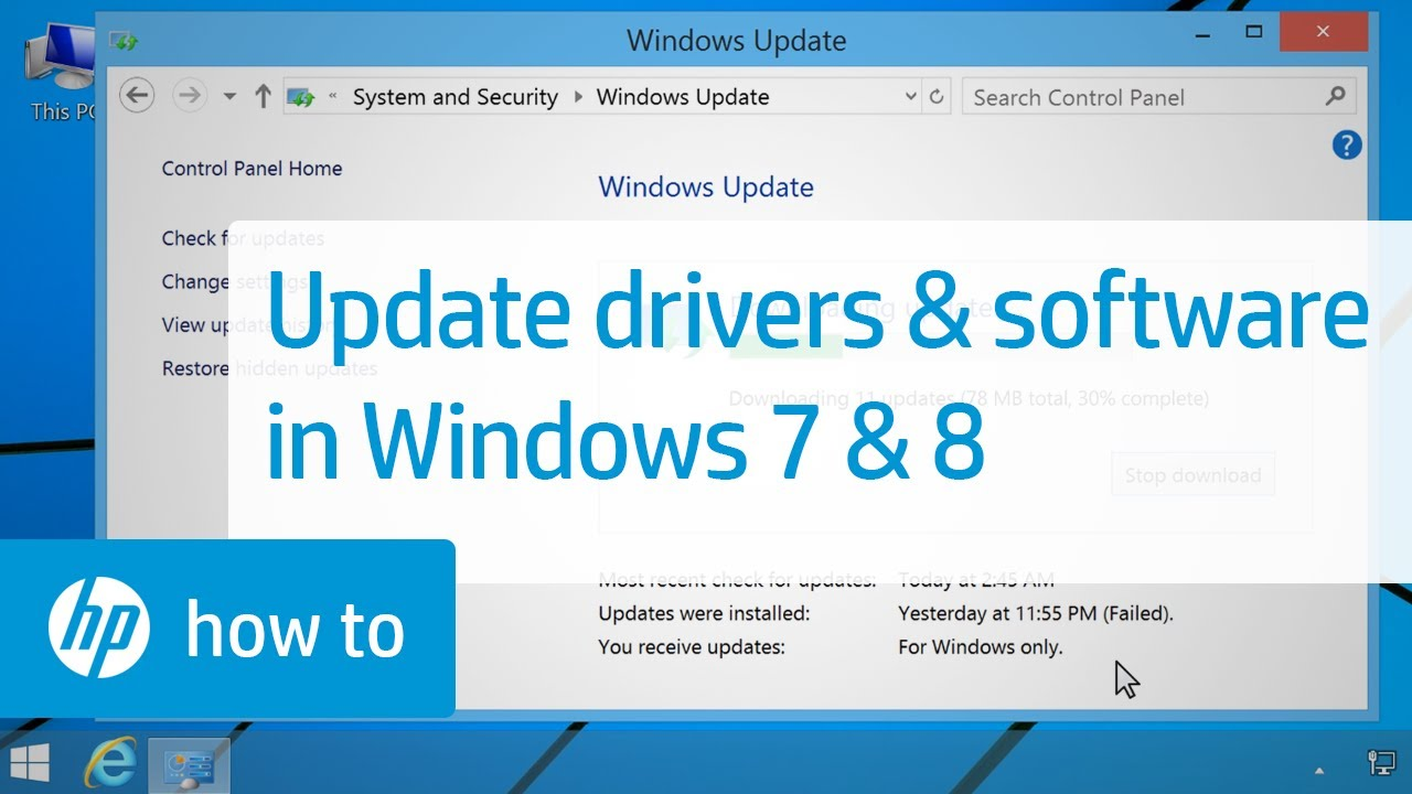 Updating HP Drivers and Software with Windows Update in Windows 8 and 7 |  HP Computers | HP
