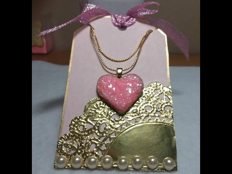DIY~Sugar Cookie Heart Pendant Necklace W/ Matching Tag! EASY!