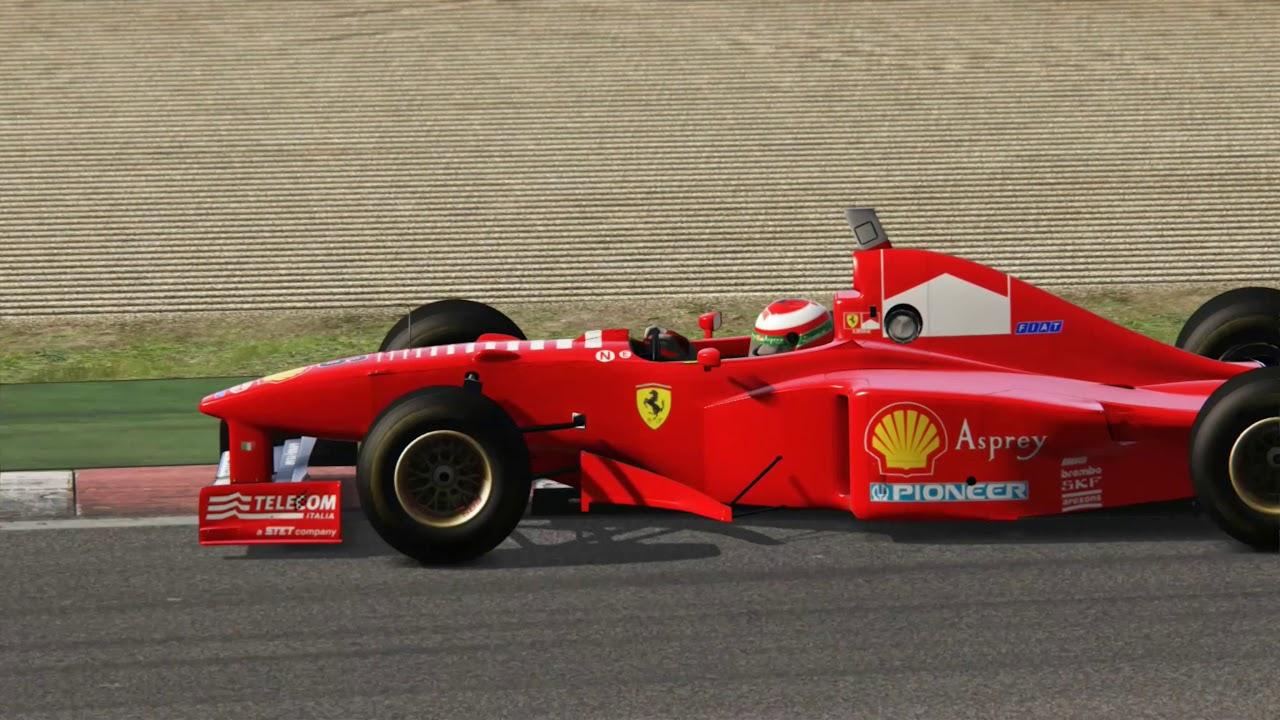 Assetto Corsa Ferrari F310 Vs F310b Hotlap Comparison Youtube
