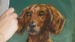 Dog Speed Painting. Как рисовать собаку