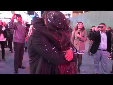 Nilam and Hardik's Flash Mob Marriage Proposal in Times Square, New York, NY