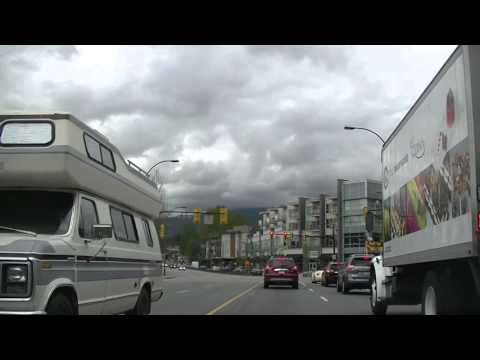 Driving in NORTH VANCOUVER - Lonsdale Avenue/ Marine Drive /