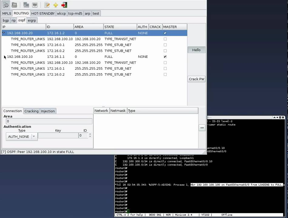 route injection in ospf using loki youtube