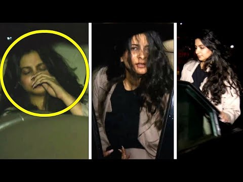 Anil Kapoor's DRUNK Daughter Rhea Kapoor Hides her Face And Ran Away From Media  Spotted