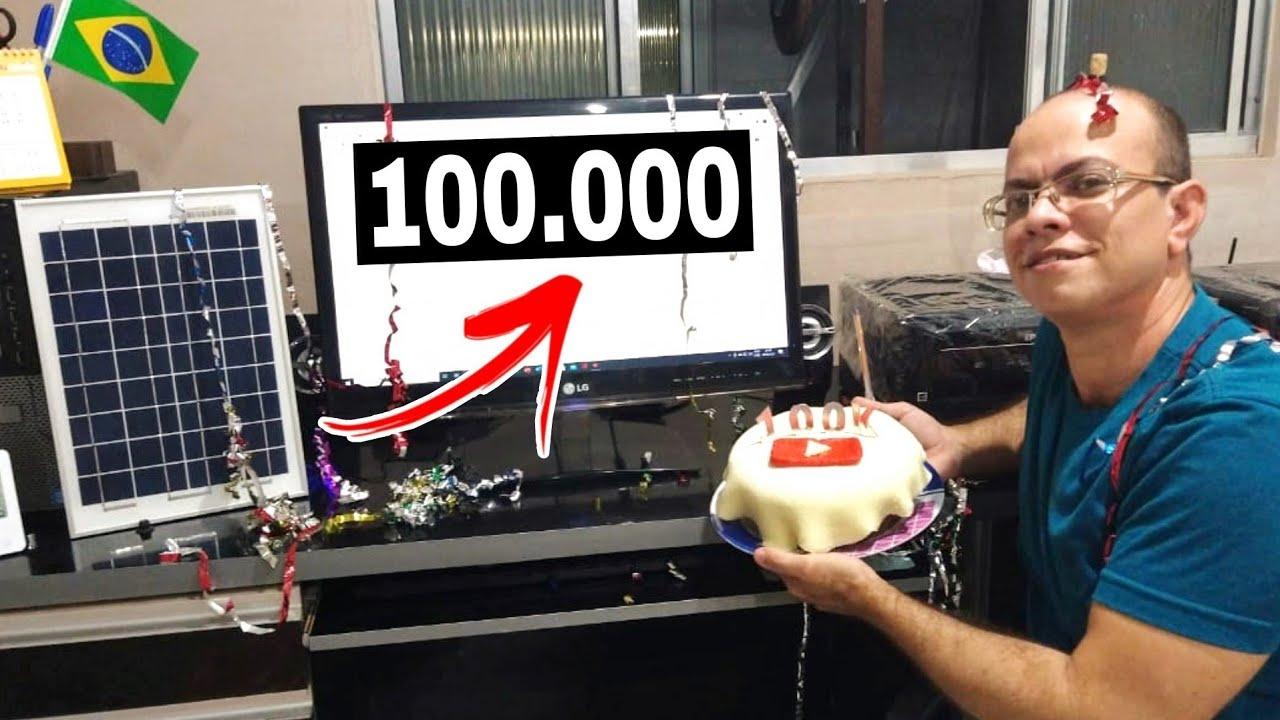 😃Agora somos 100 Mil INSCRITOS, pense numa COMEMORAÇÃO🎉🎊🎂