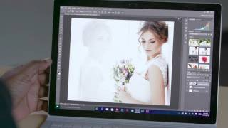 Terry White shows off Adobe Photoshop CC running on the Microsoft S...