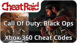 Cheat codes for Call Of Duty: Black Ops on Xbox 360. This video tells you how to get out of the chair at the main menu, and a list of every single code for the ...