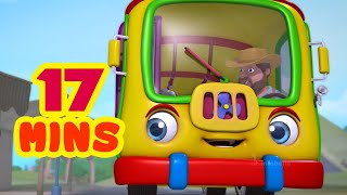 The Wheels On The Bus - Going to School & much more | Rhymes Collection | Infobells