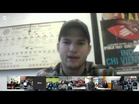 Hour of Code Video Chat with Ashton Kutcher
