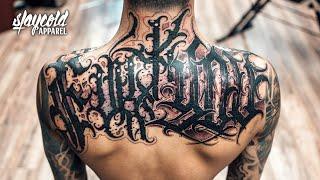 "Lettering Tattoo ""Felix Seele"" x ""Abis One"" Los Angeles 2018"