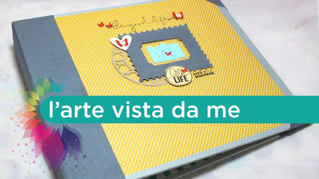 Favoloso Album Project life Fai da te-Scrapbooking Tutorial-Cartonaggio  GN39