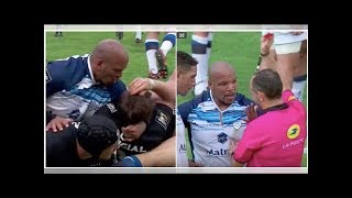 Rugby player given straight red card after crazy moment of madness during ruck