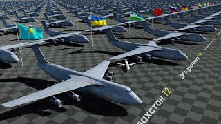 Страны по Количеству Военно-Транспортных Самолетов 2021