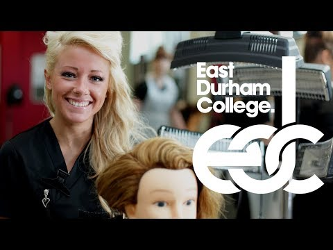 EDC Hairdressing & Barbering courses video (East Durham College)