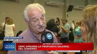 La UEPC aceptó la propuesta salarial del Gobierno